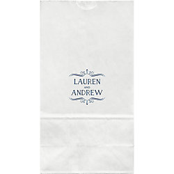 Vintage Marquis Large Custom Favor Bags