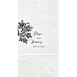 Colonial Stencil Small Custom Favor Bags