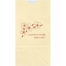 Cherry Branch Small Custom Favor Bags