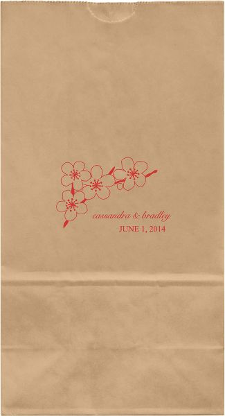 Cherry Branch Large Custom Favor Bags