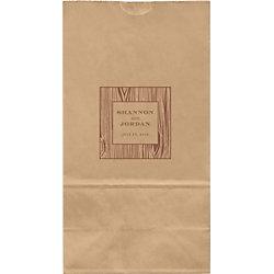 Faux Bois Large Custom Favor Bags