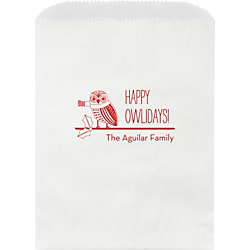 Happy Owlidays Custom Wax Lined Bags