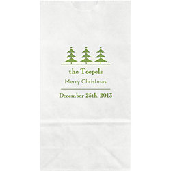 Vintage Holiday Trees Small Custom Favor Bags