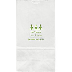 Vintage Holiday Trees Large Custom Favor Bags