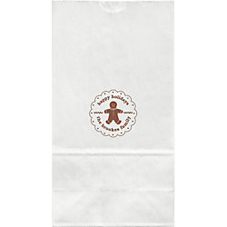 Gingerbread Man Large Custom Favor Bags
