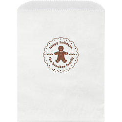Gingerbread Man Custom Wax Lined Bags