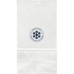 Snowflake Large Custom Favor Bags