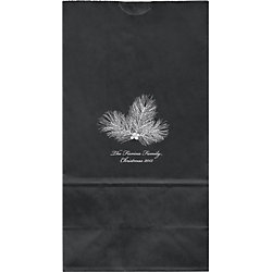 Pine Branch Large Custom Favor Bags