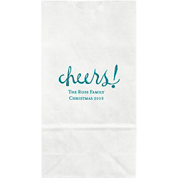 Watercolor Cheers Small Custom Favor Bags