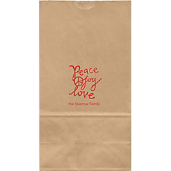 Peace Joy Love Large Custom Favor Bags