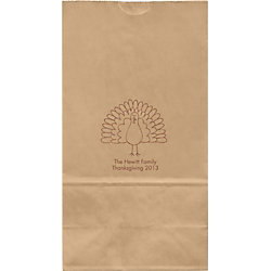Sketch Turkey Large Custom Favor Bags