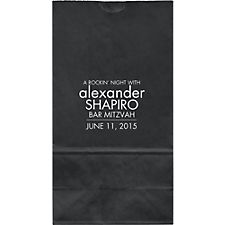 Square Mitzvah Large Custom Favor Bags