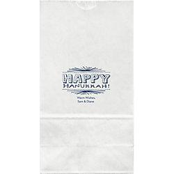 Hanukkah Chalkboard Large Custom Favor Bags