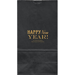 Happy New Year Large Custom Favor Bags