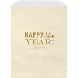 Happy New Year Wax Lined Bags