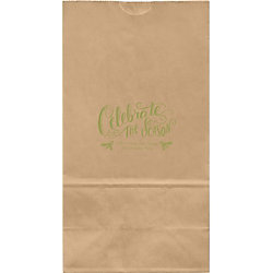 Chalkboard Celebrate Large Custom Favor Bags