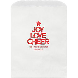 Joy Love Cheer Wax Lined Bags