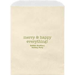 Merry & Happy Everything Wax Lined Bags