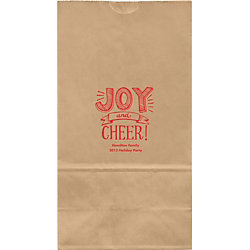 Joy and Cheer Large Custom Favor Bags