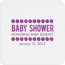 Baby Shower Dots Custom Coasters