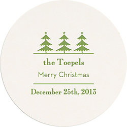 Vintage Holiday Trees Custom Coasters