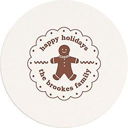Gingerbread Man Custom Coasters