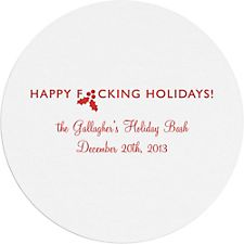 Happy Fing Holidays Custom Coasters
