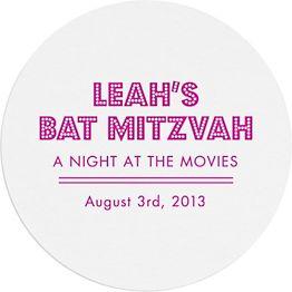 Lights Mitzvah Custom Coasters