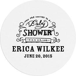 Chalkboard Baby Shower Custom Coasters