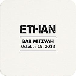 Distressed Mitzvah Custom Coasters