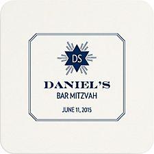 Starburst Mitzvah Custom Coasters