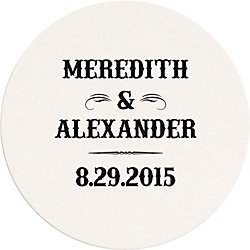 Vintage Ticket Custom Coasters