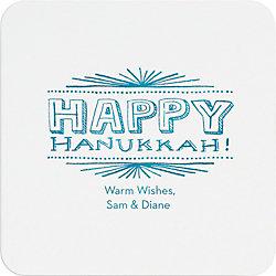 Hanukkah Chalkboard Custom Coasters