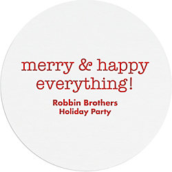 Merry & Happy Everything Custom Coasters