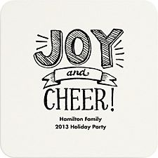 Joy and Cheer Custom Coasters