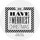 Christmas Typography Custom Coasters