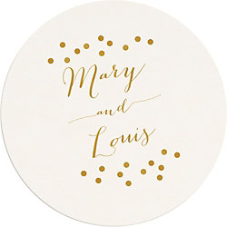 Confetti Names Custom Coasters