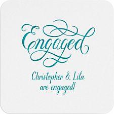 Engaged Flourish Custom Coasters
