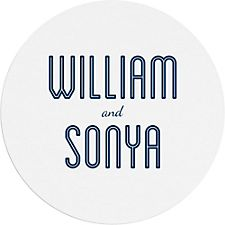 Inline Names Custom Coasters