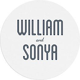 Inline Names Custom Coasters