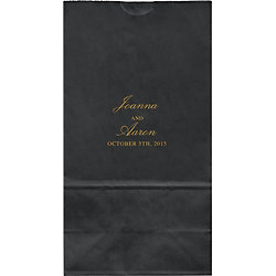 Scallops Large Custom Favor Bags