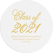 Flourish Script Graduation Custom Coasters