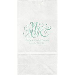 Mr. & Mrs. Small Custom Favor Bags