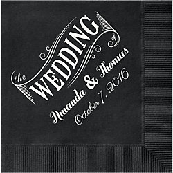 Wedding Banner Custom Cocktail Napkins