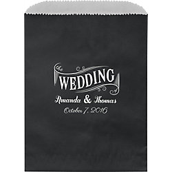 Wedding Banner Custom Wax Lined Bags