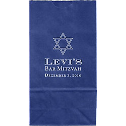 Traditional Mitzvah Small Custom Favor Bags