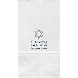 Traditional Mitzvah Large Custom Favor Bags