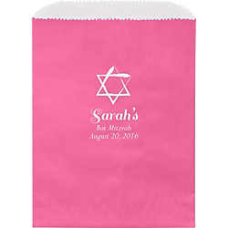 Watercolor Star Mitzvah Custom Wax Lined Bags