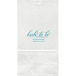 Bride To Be Large Custom Favor Bags - Set of 50