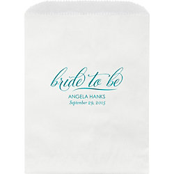 Bride To Be Custom Wax Lined Bags - Set of 50